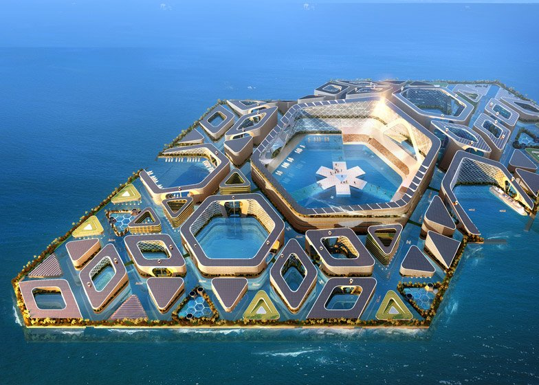 AT Design Office's floating city concept in China is under consideration