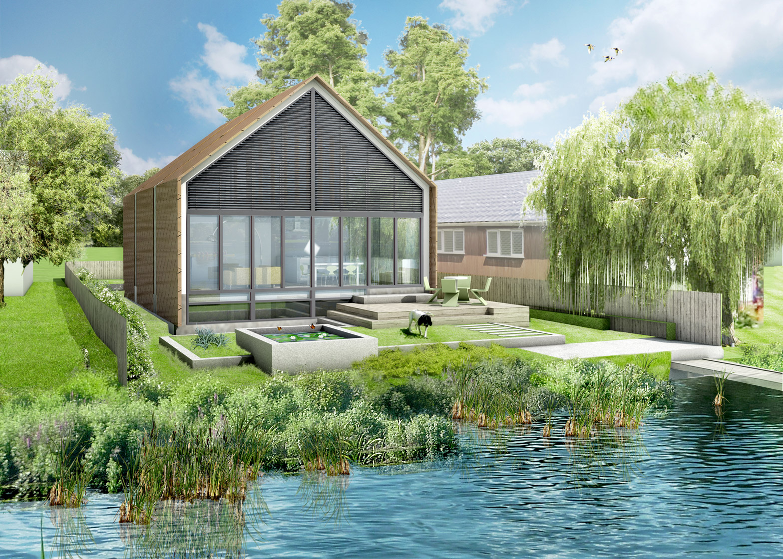 Baca Architects' Amphibious House on the River Thames