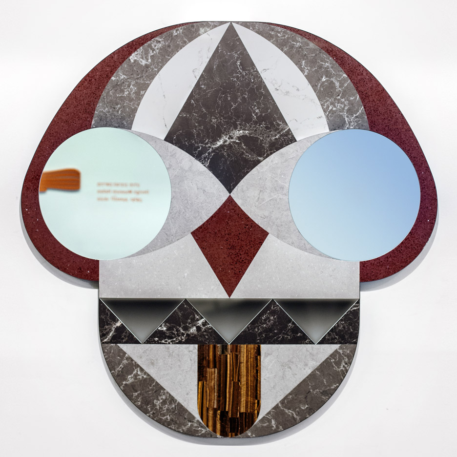 Jaime Hayón designs giant mask-like mirror for Funtastico exhibition