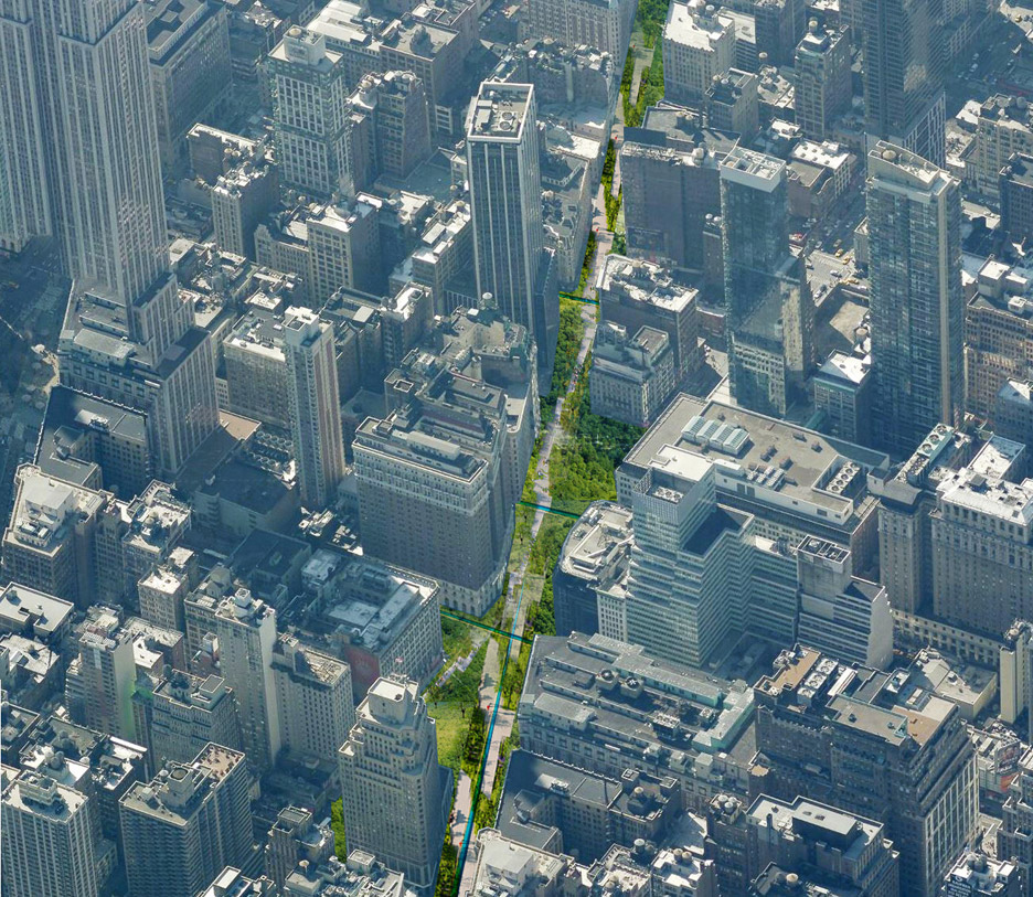 Green Line park in Manhattan