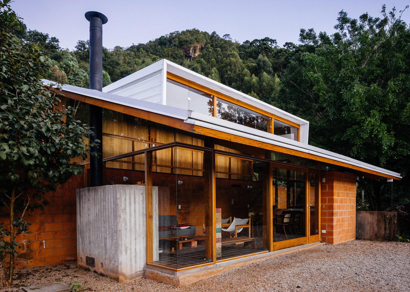 Brazilian Houses Half Slope House Steps Into A Hillside In Rural Brazil