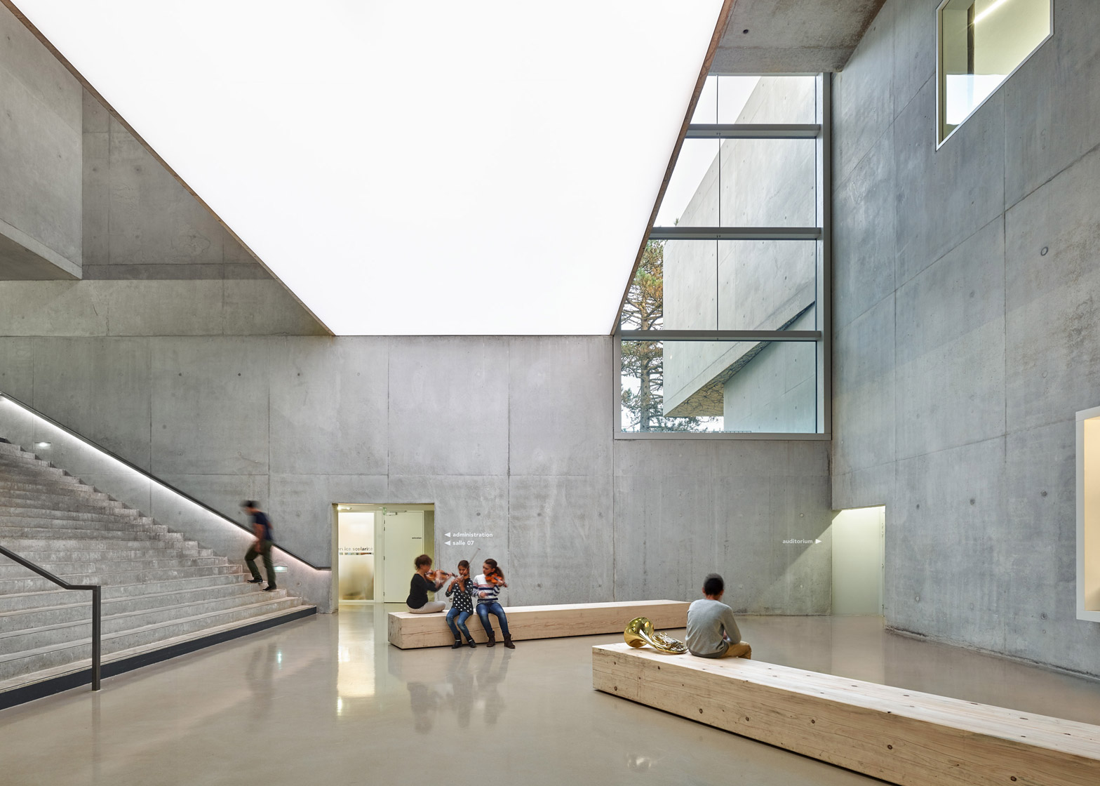Music school in Belfort by Dominique Coulon & Associes