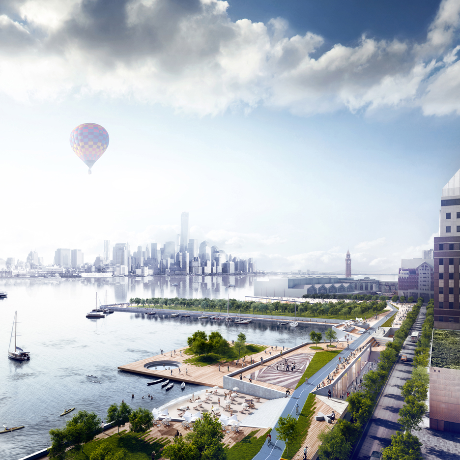 Ideas for rebuilding Hoboken, New Jersey, after Hurricane Sandy by OMA