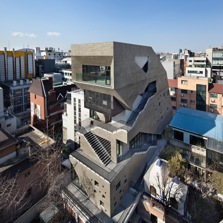 "Sae Min Oh designs irregularly shaped block in Seoul as a ""three-dimensional street"""