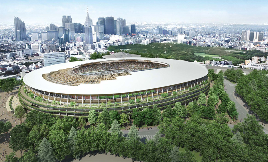 Japan National Stadium scheme A by Kengo Kuma