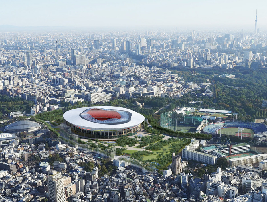 Japan National Stadium scheme B is designed by Toyo Ito