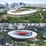 Kengo Kuma and Toyo Ito unveil competing bids for Tokyo Olympic Stadium