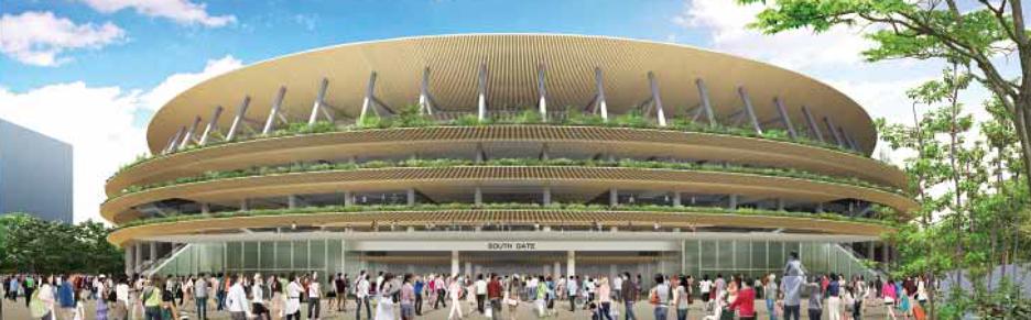 Construction work starts on Kengo Kuma's Tokyo 2020 Olympics stadium
