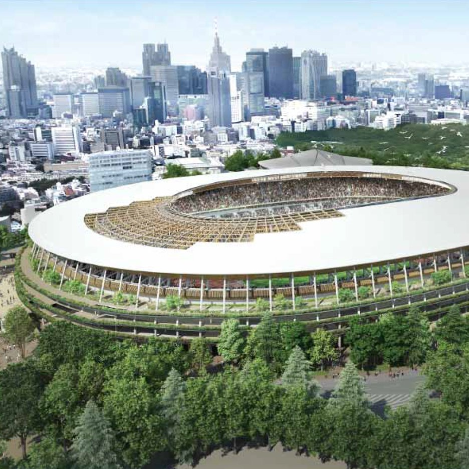Japan urged to stop using deforestation-linked wood for Kengo Kuma's Olympic stadium