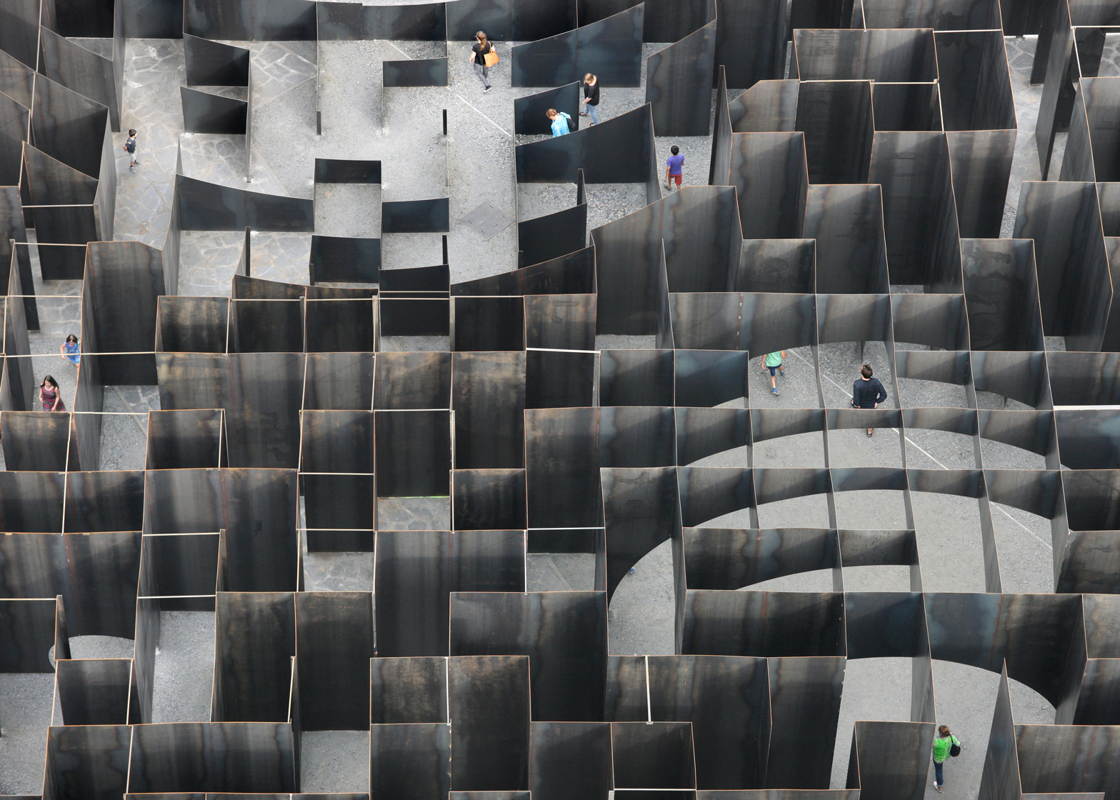 Labyrinth steel maze by Gijs Van Vaerenbergh