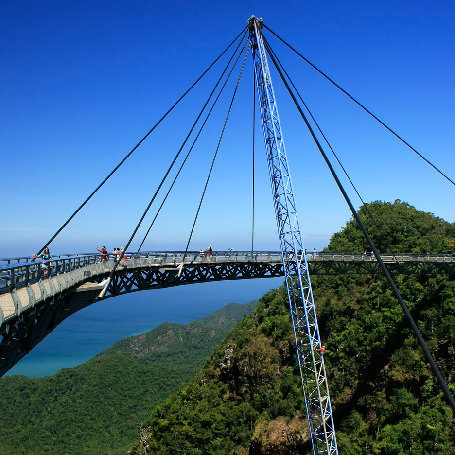 Langkawi Sky Bridge by Peter Wyss