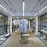Linehouse installs bespoke metal shelving system at Côte&Ciel boutique in Hong Kong