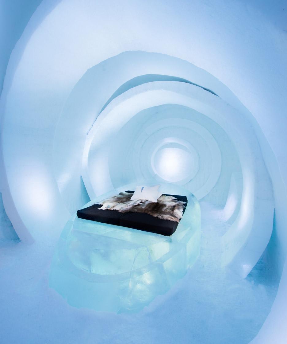 Ice hotel interiors feature