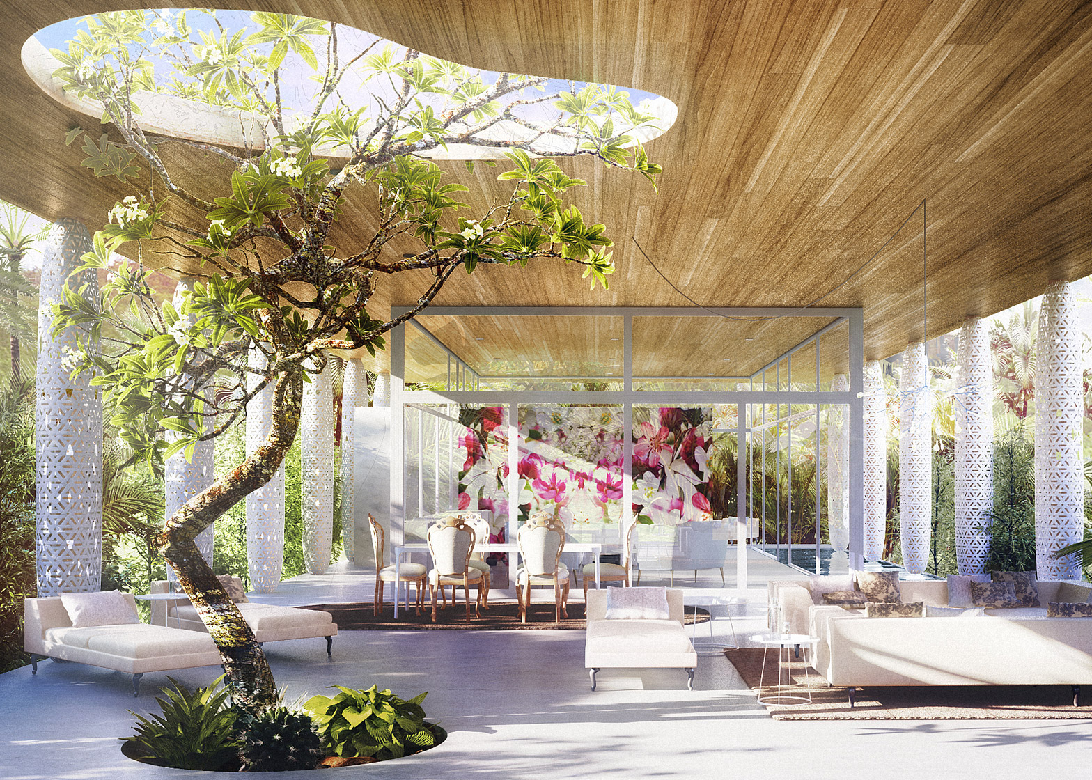 Marcel Wanders' prefabricated pavilion for Revolution Precrafted