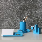 Merge by Yen-Wen Tseng is a sculptural concrete stationery set