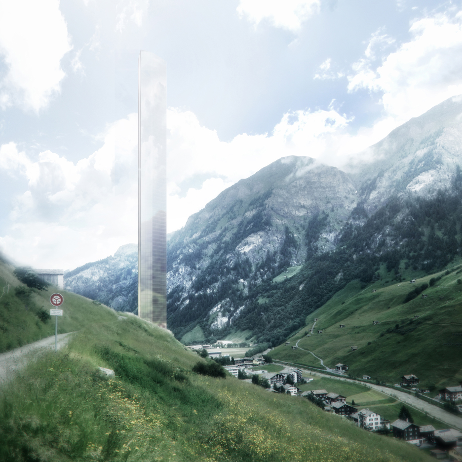 "Morphosis unveils plans for ""Minimalist"" skyscraper next to Zumthor's Therme Vals"