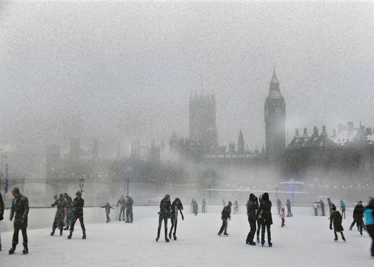 Natural ice rinks on London's River Thames by NBBJ