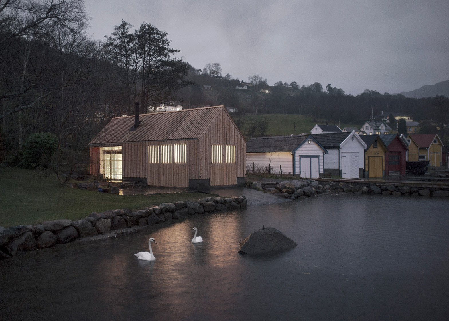Naust V boathouse by Koreo Architects and Kolab Architects