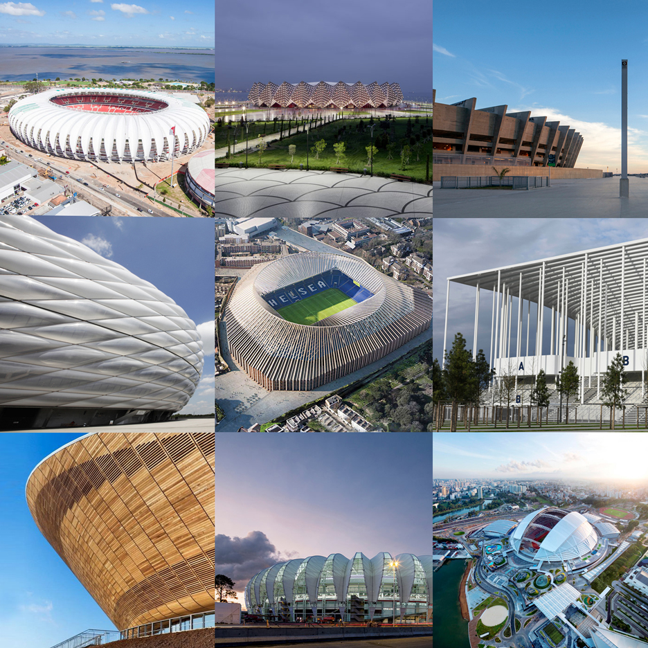 Explore iconic stadiums on Dezeen's new Pinterest board