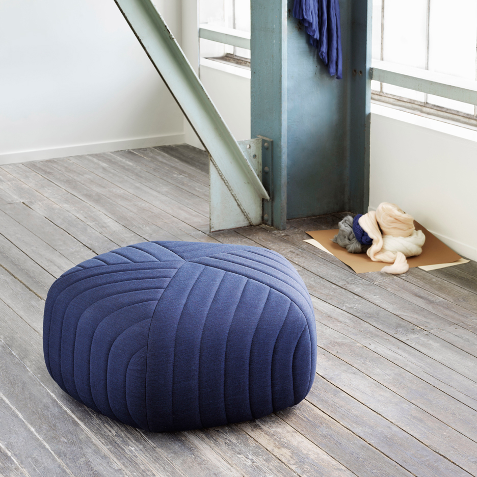 Anderssen & Voll designs set of pentagonal poufs for Muuto