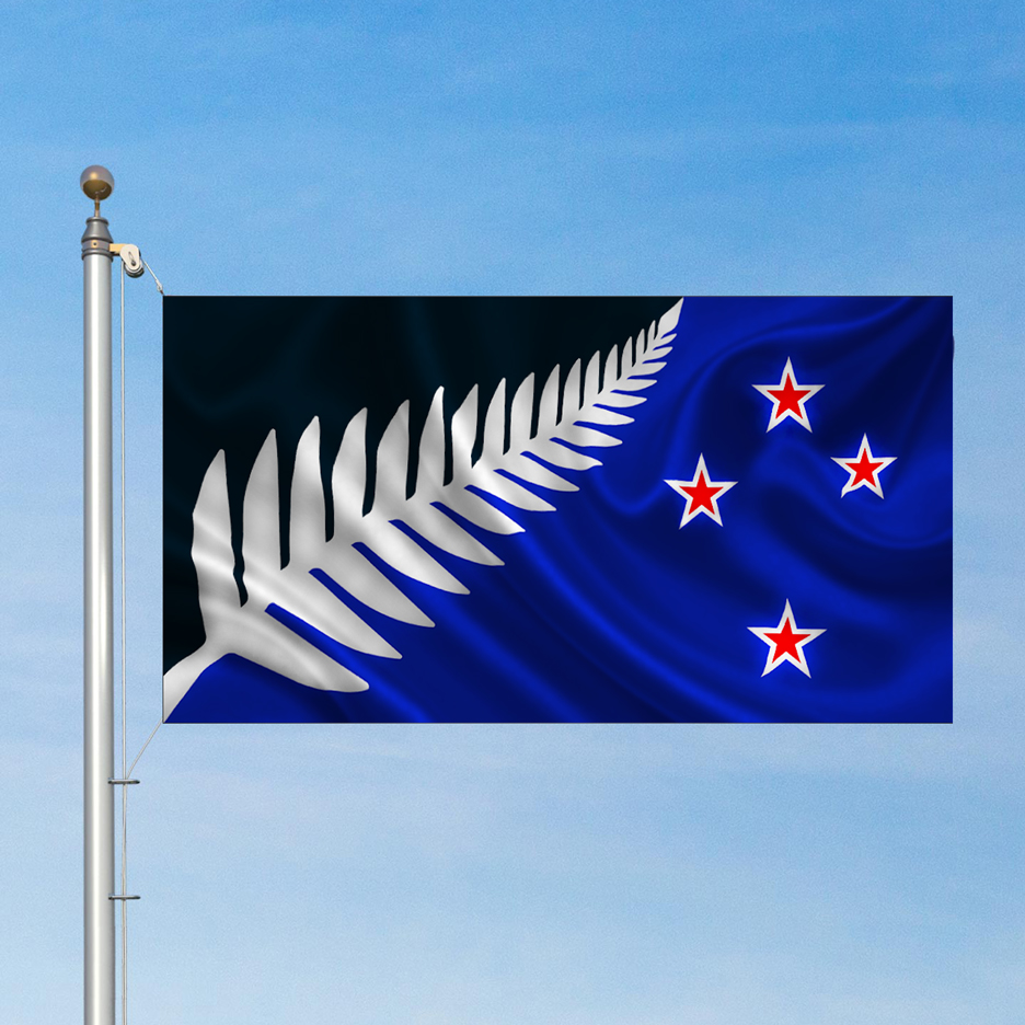New Zealand Silver Fern flag by Kyle Lockwood