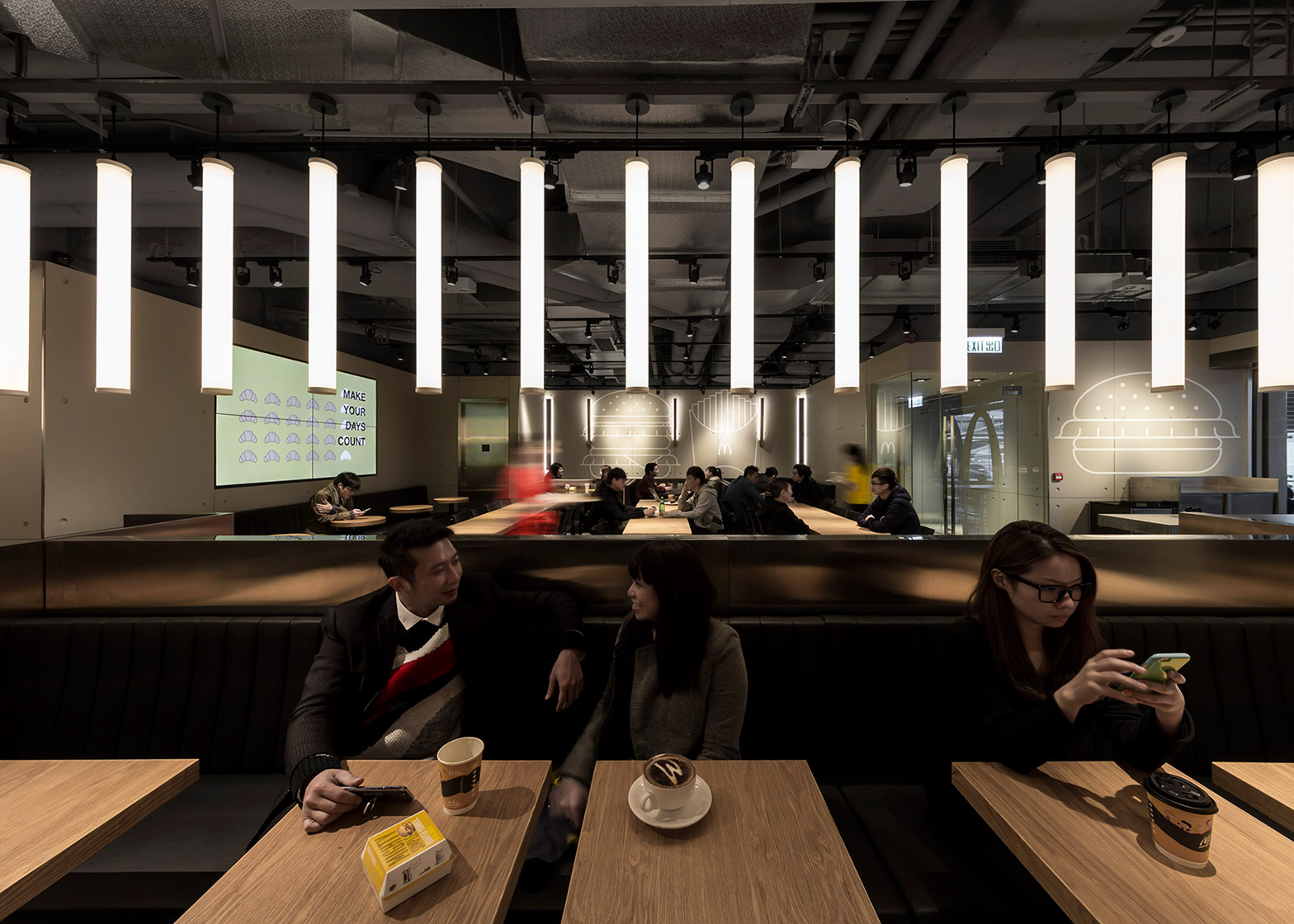 "Mcdonalds Interior Design hong kong mcdonald's pilots ""an experiment in non-design"""