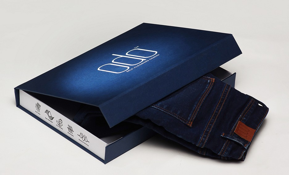 ODO unveils cotton jeans and T-shirts that clean themselves