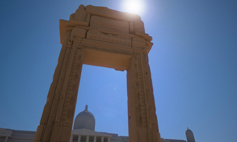 Giant 3D-printed replica of Palmyra Arch will be installed in London and New York