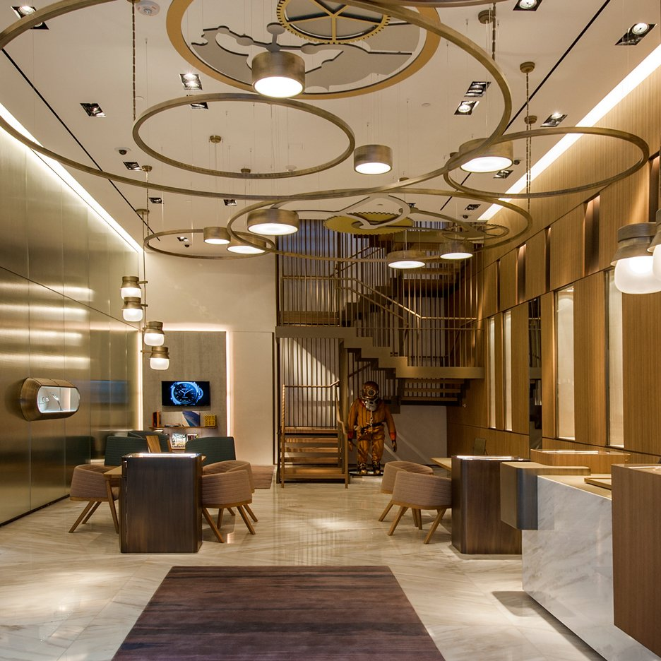 Patricia Urquiola's Miami store design for Panerai references watch mechanisms