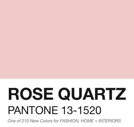 rose quartz color of the year