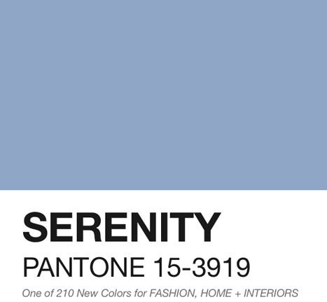 serenity color of the year