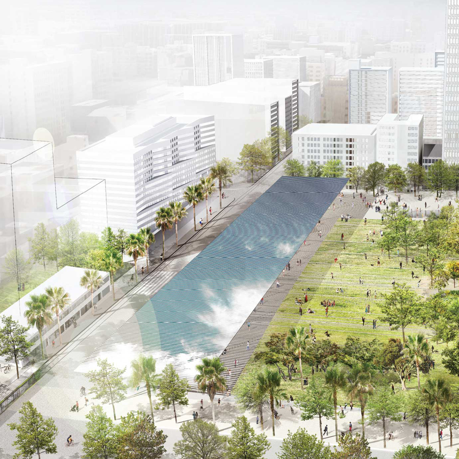 Four finalists announced for revamp of Pershing Square in downtown LA