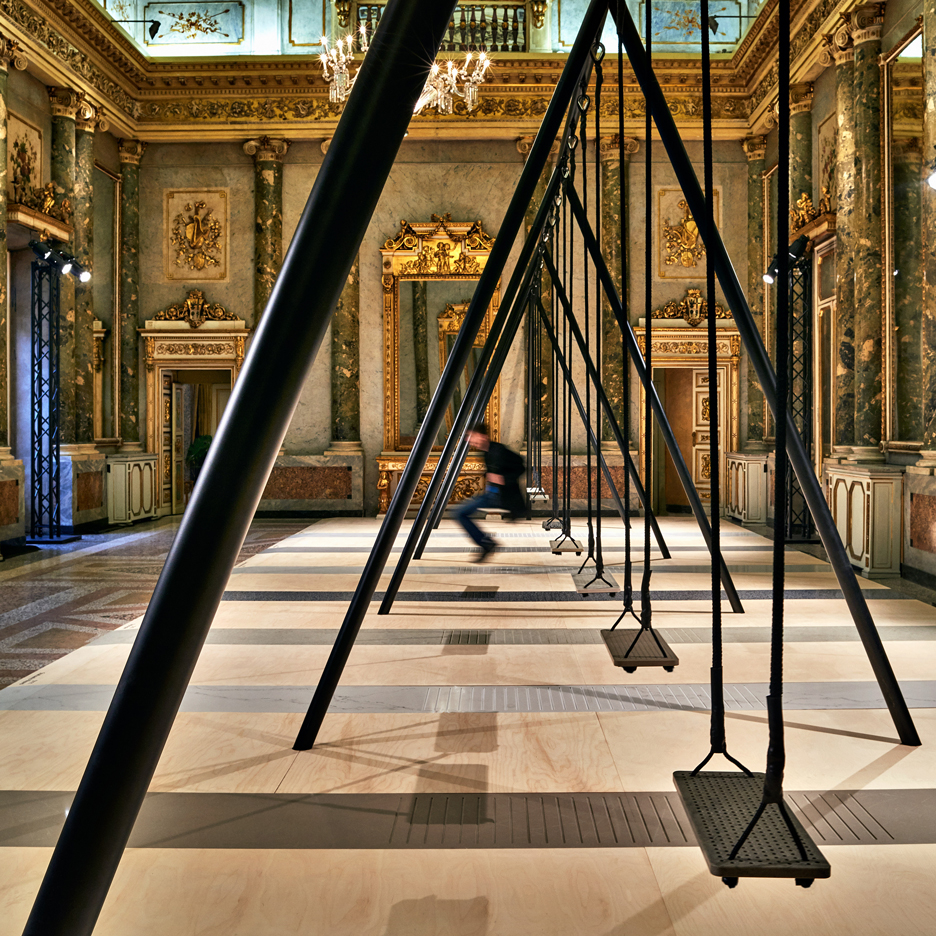Caesarstone Movements swing set by Philippe Malouin