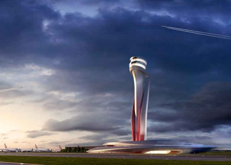 Pininfarina and Aecom winning proposal air traffic control tower for Istanbul New Airport