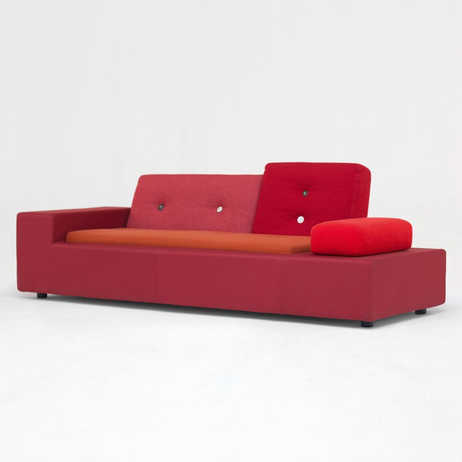 "Hella Jongerius' 2005 Polder Sofa for Vitra is a ""collage of textiles"""