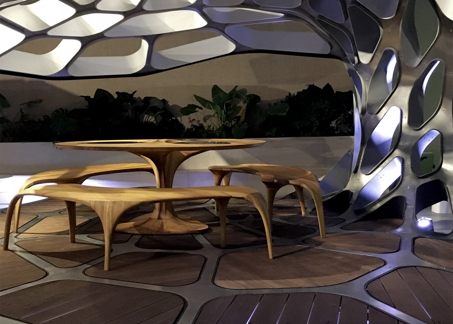 Dining pavilion by Zaha Hadid and Patrik Schumacher at Design Miami 2015