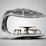 Zaha Hadid unveils Volu dining pavilion at Design Miami