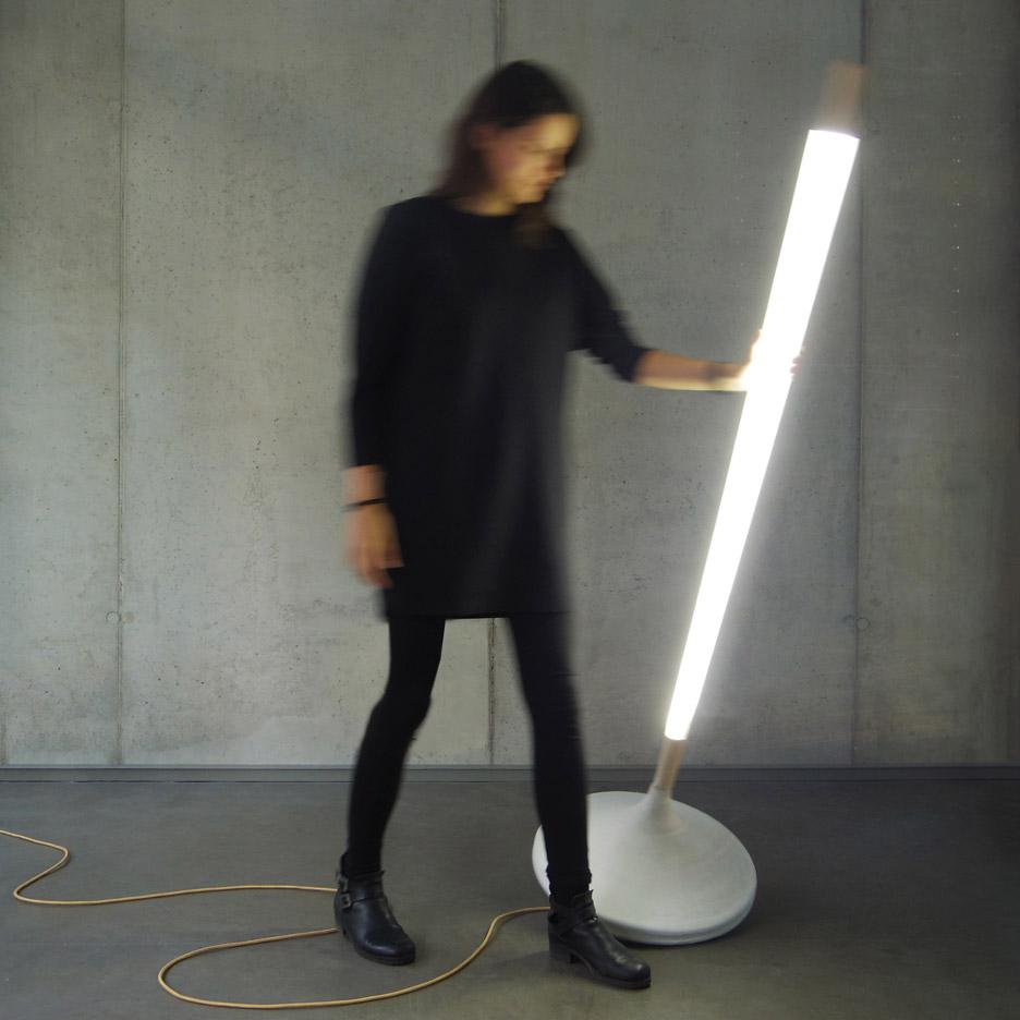 Pumpal standing lamp by Ewan Cashman