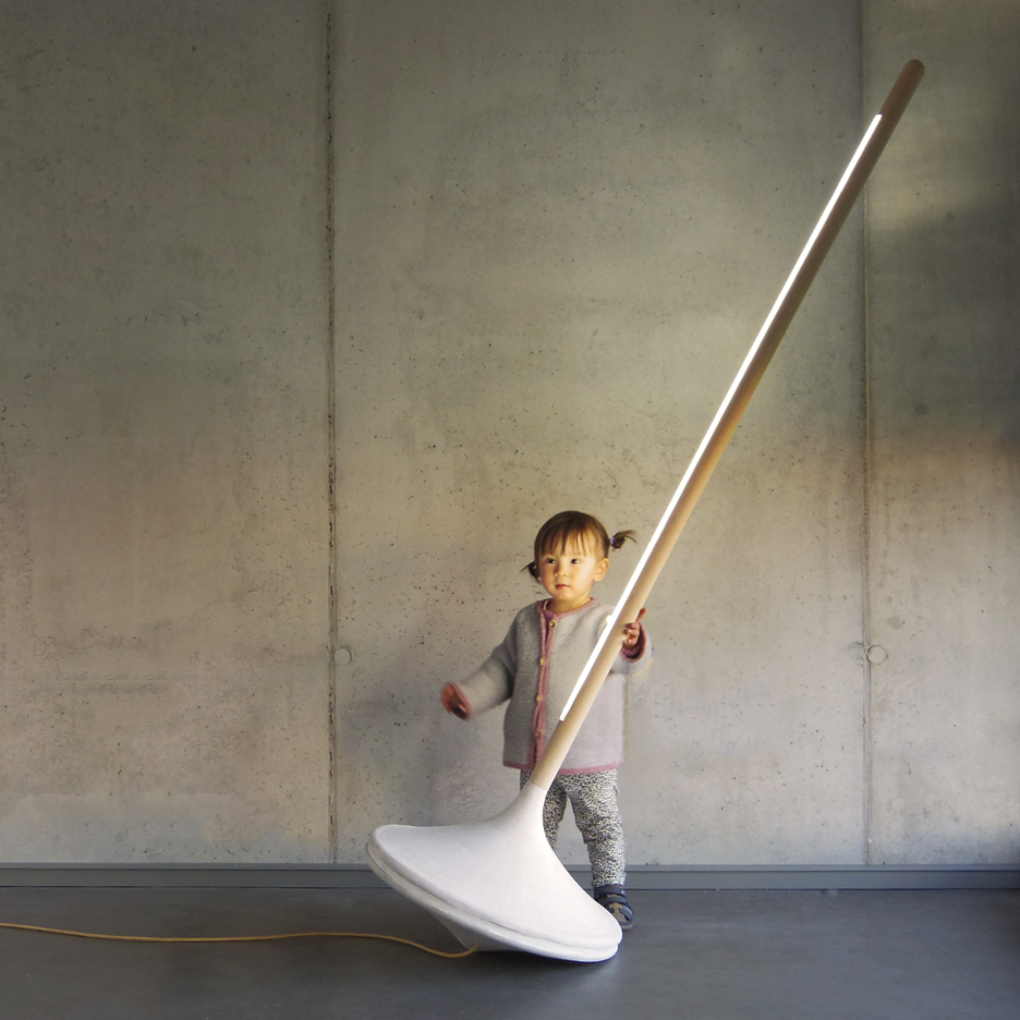 Ewan Cashman's Pumpal light resembles an oversized spinning top