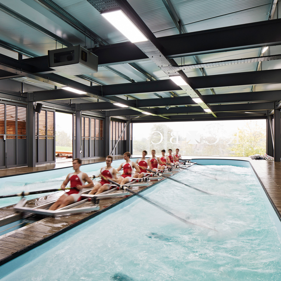 Mulroy Architects completes timber-clad rowing centre for Oxford school