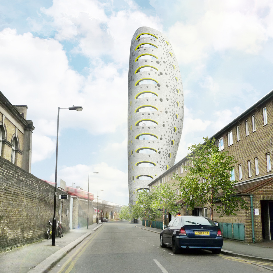 Will Alsop plans bulging skyscraper next to Damien Hirst's south London gallery
