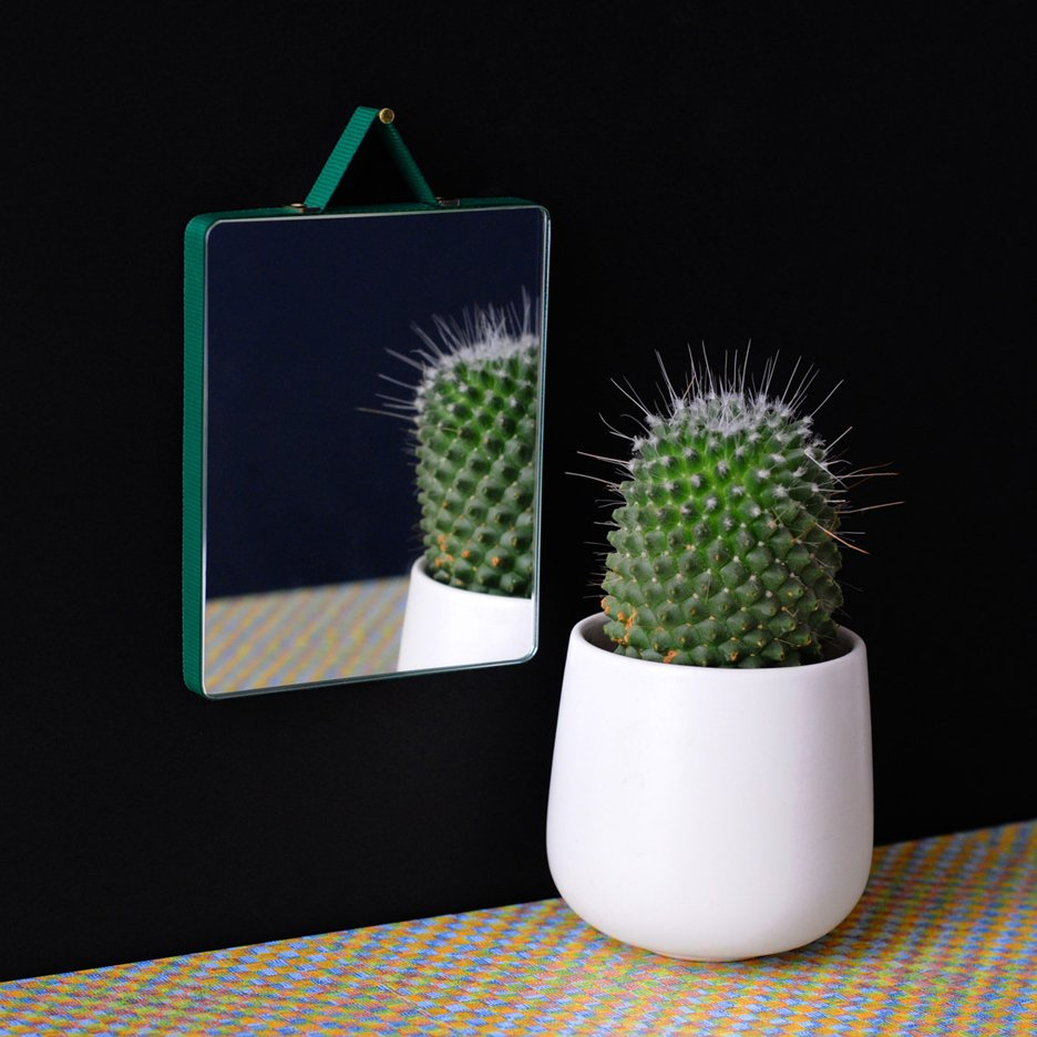 Inga Sempé wraps ribbon around Ruban mirrors for Hay