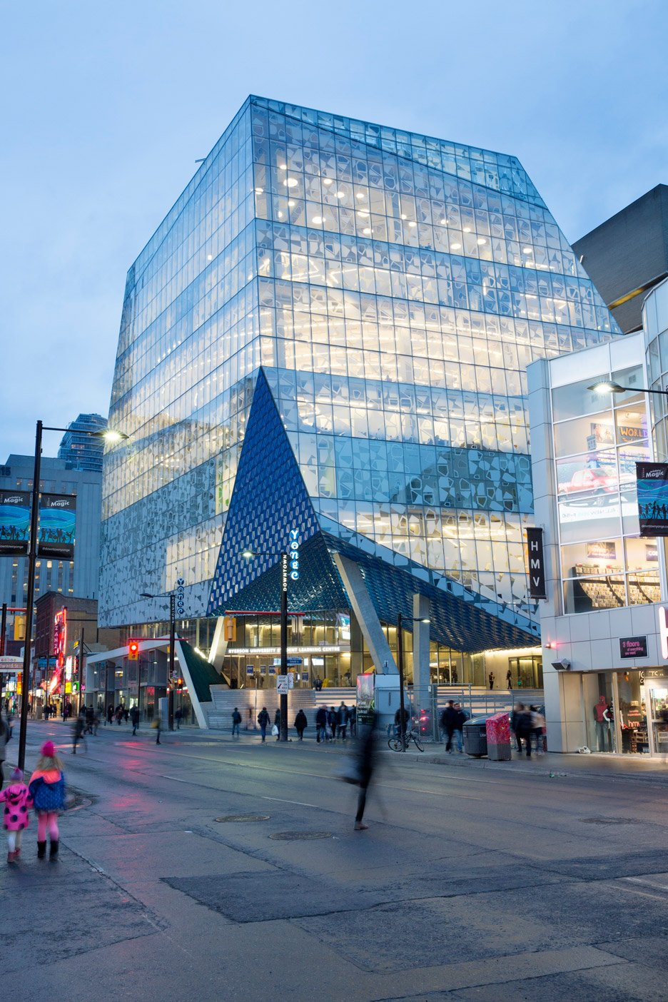 Fritted Glass Creates Patterned Facade For Ryerson ...