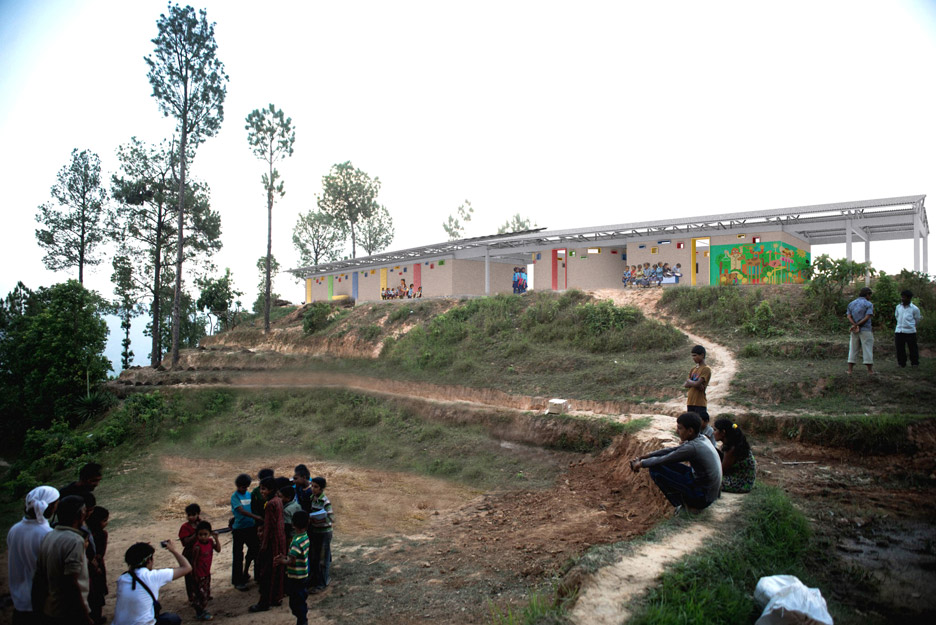 SHoP and Kids in Kathmandu Rebuild 50 public schools