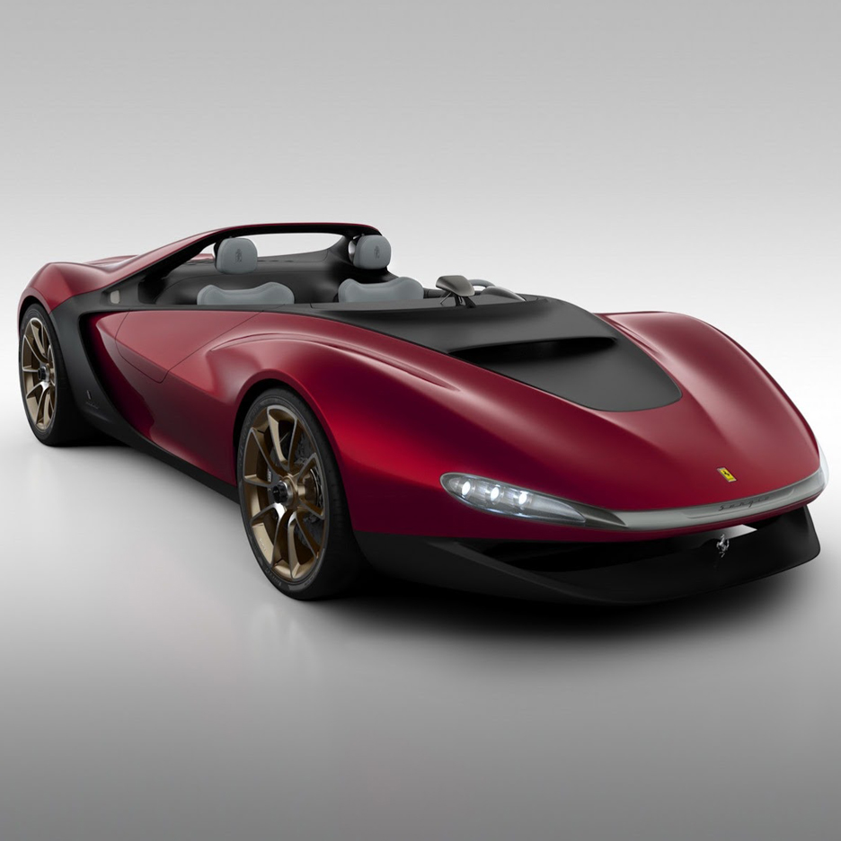 Pininfarina unveiled a two-seater concept vehicle without a windshield at the Geneva Motor Show in 2013