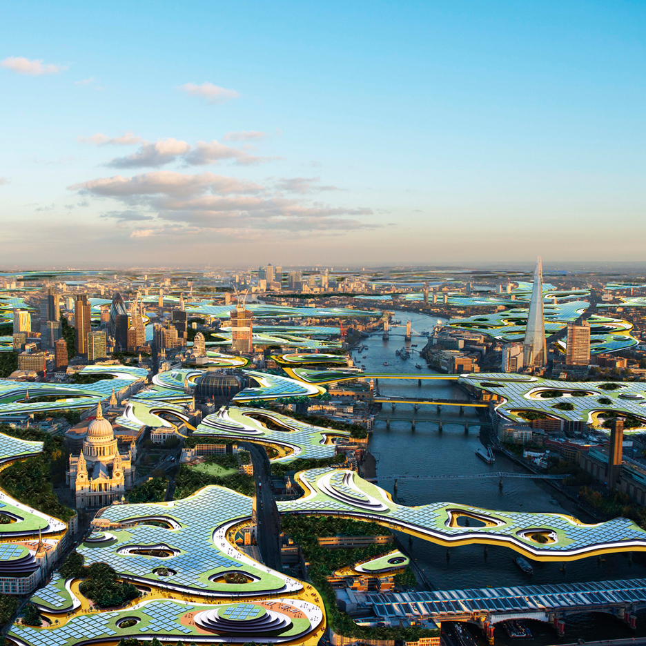 "Clive Wilkinson suggests ""carpet bombing"" London with a co-working office in the sky"