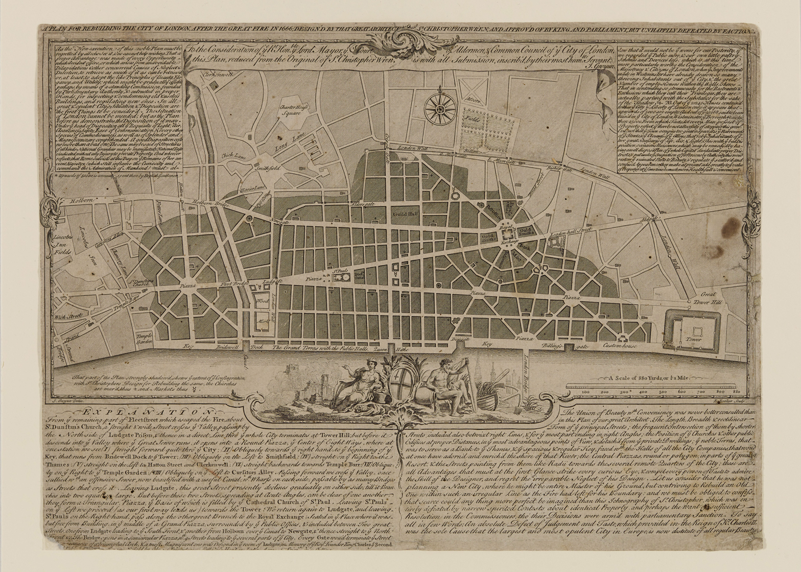 Sir Christopher Wren's plan for rebuilding the City of London after the Great Fire of 1666 will feature in the RIBA's Creation from Catastrophe exhibition
