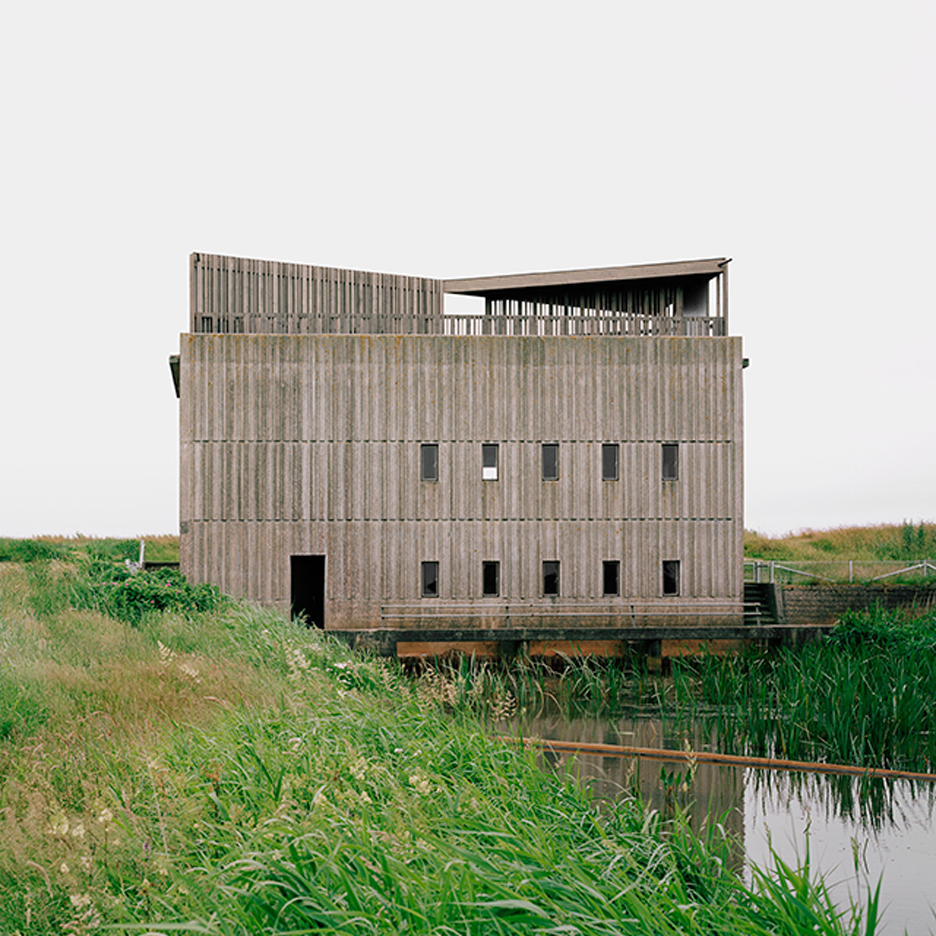 Johansen Skovsted Arkitekter convert 1960s pump stations into river viewing points