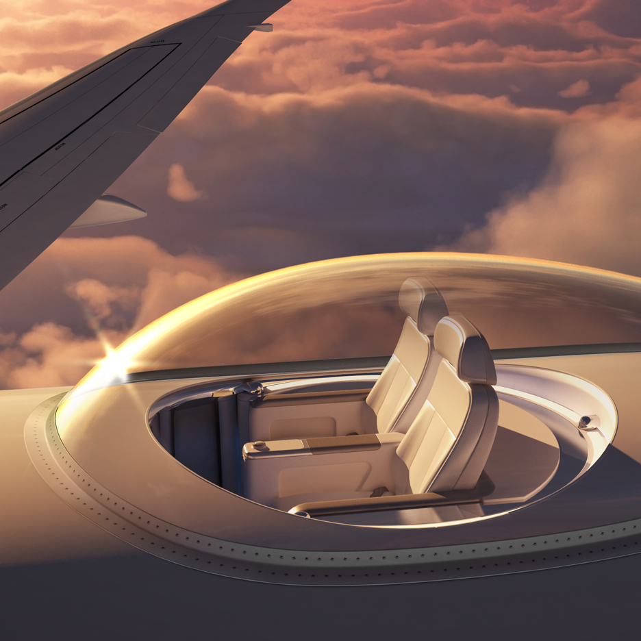 Transparent SkyDeck offers aeroplane passengers panoramic views from the sky