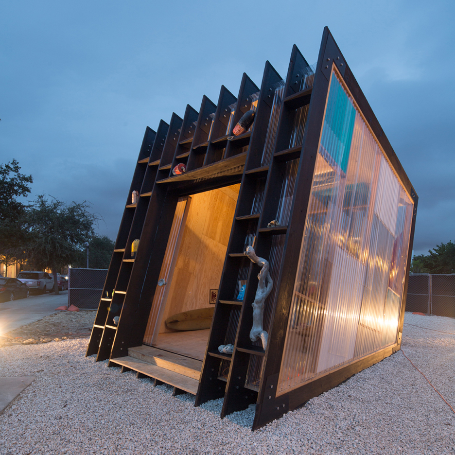 yves b har designs slanted surf shack for design miami rh dezeen com
